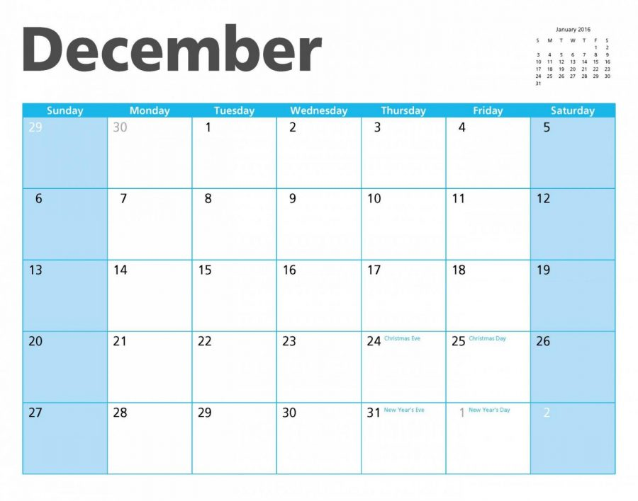 December National Holidays